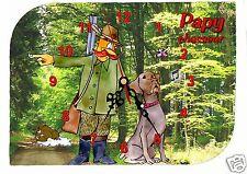 horloge pendule murale papy chasseur humoristique prénom choix réf F 34