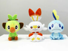 3PCS Sword and Shield Game Plush Scorbunny Grookey Doll Soft Toy Cute Kids Gift