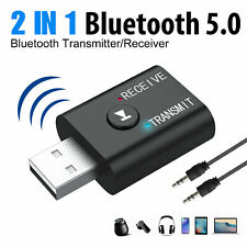 2in1 Bluetooth Transmitter Receiver USB Wireless Stereo Audio Adapter PC Car