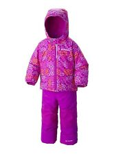 NWT COLUMBIA FROSTY SLOPE SNOW SET,  GIRLS PINK GEO PRINT SNOWSUIT 3T