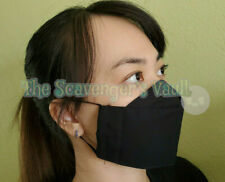 Handmade 3D Face Mask (made in Hawaii) USA face cover (Black) (L Size Available)