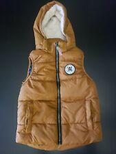 Boys Tan/Brown H&M Hoodie Puffer Vest Size 6-8 NWT