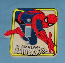 vintage 1977 THE AMAZING SPIDER-MAN SWITCHPLATE light switch cover