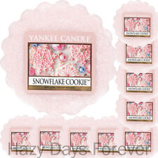 10 YANKEE CANDLE WAX TARTS Snowflake Cookie CHRISTMAS XMAS MELTS