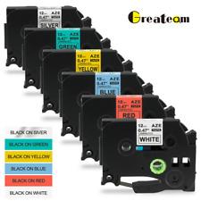 6Pk Compatible Label Maker Tape 12mm for Brother P-Touch TZ-231 TZe-231 PT-D210