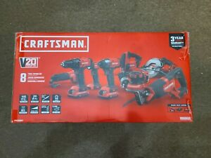 Craftsman 20V Lith-Ion 8-Tool Combo Kit CMCK800D2 NEW - Free Shipping
