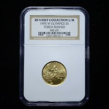 1995-W Olympics $5 Gold Torch Runner NGC MS69 US Vault Collection (slx3686)