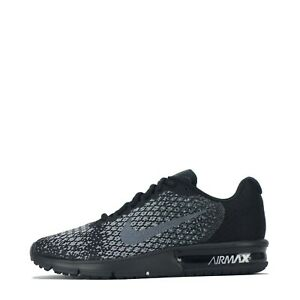 Nike Air Max Sequent 2 Men's Running Trainers Shoes Black Dark Grey UK 7.5