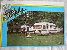 Rally caravane import camping-car brochure c1988 dutch