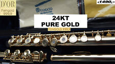 Querflöte FINEGOLD 999 24 Kt Flute professionell 24kt yellow gold  ALLERGY FREE