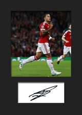 MEMPHIS DEPAY #1 (MANCHESTER UTD) Signed Photo A5 Mounted Print - FREE DELIVERY