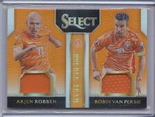 Arjen Robben Robin Van Persie 2015 Select Soccer Orange Double Team Jersey /149