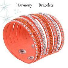 Orange Swarovski Elements Cuff Bracelet by Harmony Bracelets
