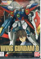 Gundam Wing 0 Mobile Suit Wing Zero XXG-00W0 1:144 Model Kit Bandai 2000 Unused