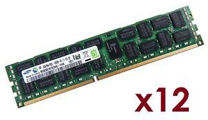 12x 8GB 96GB RDIMM ECC REG DDR3 1333 MHz Speicher f HP Proliant ML350p Gen8