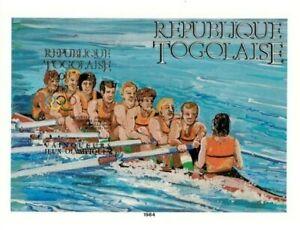 Togo 1984 Scott# C499 - Olympics, Rowing, Sport - Imperf Souvenir Sheet - MNH