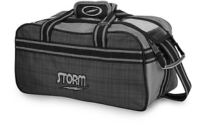 Storm Charcoal/Plaid 2 Ball Tote Clear Top Bowling Bag