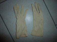 VINTAGE Beige Ladies Gloves Size S