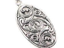 Celtic seas handmade oval Pewter Pendant