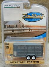 1:64 GreenLight *TOP SHELF REPLICAS* Grey LIVESTOCK Farm TRAILER *HITCH & TOW*