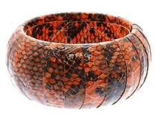 Coral Wrap Faux Leather Animal Print Snake Skin Bangle Bracelet