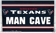 NEW 3x5 ft HOUSTON TEXANS MAN CAVE FLAG WITH 4 BRASS GROMMETS