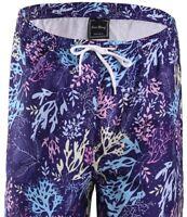 *NEW Mens Swim Trunks Bathing Suit Swimsuit Blue Coral Floral Print S M L XL XXL