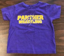 Size 2 Purple Panther Wrestling T-shirt