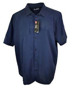 Under Armour Ultimate Short Sleeve Button Down Shirt 1259095 410 Men's Size 4XL