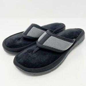 Isotoner Thong Slippers Size Medium 7.5 - 8 Women's Scout Mesh Black Flip Flop