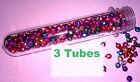 3 tubes caps 1.5 oz water proof Geocache Containers Storage Vault Crush Survival