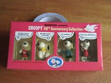 New ListingSnoopy / Peanuts 40Th Anniversary Pvc Collection 1990 Mib