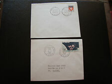 FRANCE - 2 enveloppes 1er jour 1958/1966 (armoi lyon/satellite D1) (cy77) french