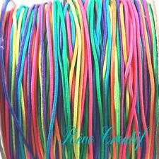 10 Mètres 10M (2 x 5m) Fil élastique Stretch 1mm Nylon Multicolore et Caoutchouc