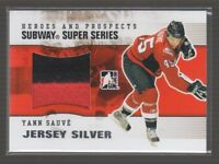 (67572) 2009-10 ITG HEROES and PROSPECTS SUBWAY SUPER SERIES JERSEY YANN SAUVE