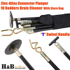 Drain Cleaner Cleaners 10 Rod Carry Bag T Swivel Handle Zinc Alloy Plunger T0038