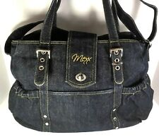 Mexx Extra Large Denim Blue Multi Purpose Travel/Diaper/Tote/Shoulder  Bag