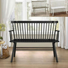 Jerimiah Living Room Entry Seat Spindleback Loveseat Bench Chair Wood
