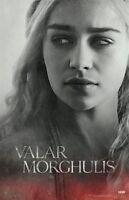 GAME OF THRONES POSTER ~ DAENERYS PORTRAIT 24x36 TV Emilia Clarke Targaryen