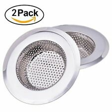 2pcs Kitchen 4.5inch Stainless Steel Drain Strainer Basket Mesh Sink Strainers