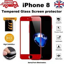 Full Screen Size 3D Coverage Tempered Glass Screen Protector for iPhone 8 RED