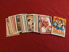 "1981     ""  DALLAS ""  EXCELLENT TO NEAR MINT  TRADING CARD SET & UNOPENED  PACK"