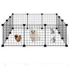 Portable Pet Playpen Large 12 Panels Dog Cat Guinea Pig Rabbit Cage Fence Yard