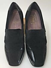 Women's Clarks Everyday Shoes Loafers Sz 7 N Narrow Black Patent Leather Upper