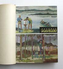 Pétrole  Progrès  - Album relié 1952-53  - Standard Française des Pétroles