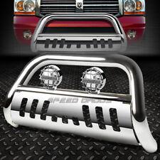 Chrome Bull Bar Grille Guardchrome Fog Light For 02 09 Dodge Ram 150025003500 Fits 2005 Dodge Ram 1500