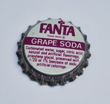 Coca-Cola Fanta Grape Soda Tapa de botella USA Tapas De Botellas Años 70