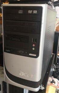 Acer Aspire Pentium 4 computer 2.8ghz 1gb ram 2 dvd-rw retro genuine Xp 160gb