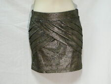 "BRONZE STRETCHY FRONT PANEL SKIRT, SUPRE, XS,  6  AUZ  ""NWT"" RRP $40 C06"