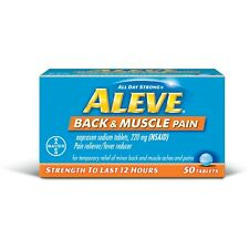 Aleve Back & Muscle Pain 12 Hour Tablets, 50 ct each